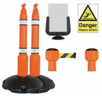 Skipper™ Standard Winter Barrier Sign Kit With Posts And Bases