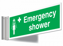 Emergency Shower Double Sided Corridor Sign