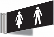 Male and Female Toilet Corridor Signs