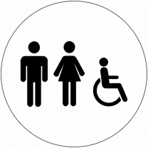 Unisex Accessible Symbol Washroom Sign