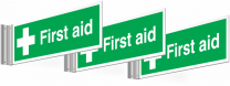 3 Pack First Aid Corridor Signs