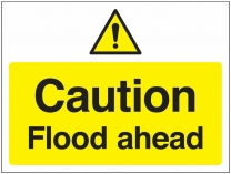 Caution Flood Ahead Traffic Cone Sign