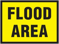Flood Area Traffic Cone Sign