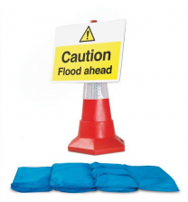 Hydrosack And Traffic Sign Caution Flood Ahead Flood Kit
