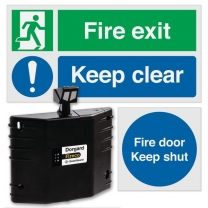 Dorgard™ Retainer And Fire Exit Signage Bundle