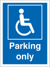 Disabled Parking Only Car Park Information Signs