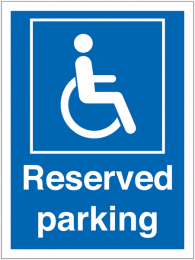 Disabled Driver Reserved Parking Signs