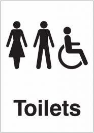 Unisex Accessible Toilet Door Sign