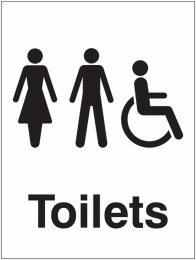 Male Female Disabled Toilet Sign
