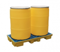 Solid Polyethylene 2 Drum Hazardous Spill Decks