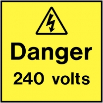 Danger 240 Volts On The Spot Electrical Labels