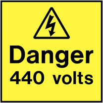 Danger 440 Volts Electrical On The Spot Labels