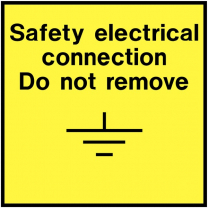 Safety Electrical Connection Do Not Remove Electrical Labels