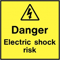 Danger Electric Shock Risk On The Spot Electrical Label