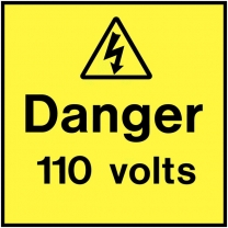Danger 110 Volts On The Spot Electrical Label