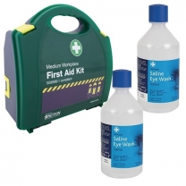 BS First Aid Kit and Eye Wash Medium Kit