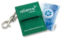 Resuscitation Face Shield In Green Keyring Pouch