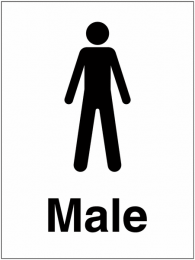 Male Washroom Indoor and Outdoor Signs