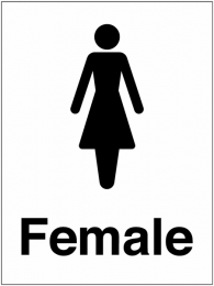 Female Washroom And Toilet Sign