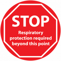 STOP Respiratory Protection Required Beyond This Point Anti-Slip Floor Sign