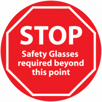 STOP Safety Glasses Required Beyond This Point Anti-Slip Floor Sign
