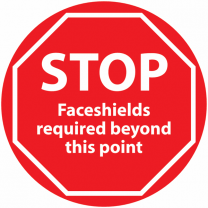 STOP Face Shield Required Beyond This Point Anti-Slip Floor Sign