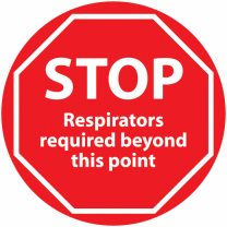 STOP Respirators Required Beyond This Point Anti-Slip Floor Sign