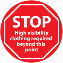 STOP High Visibility Clothing Required Beyond This Point Anti-Slip Floor Sign