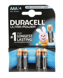 DURACELL Ultra M3 Battery Size AAA Pack 4
