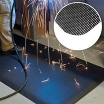Flame Retardant Diamond Tread Weld Mats