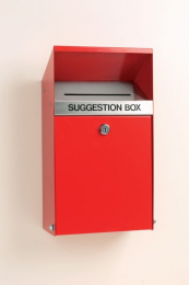 Suggestion Box Lockable With Drop Down Front