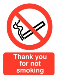Thank You For Not Smoking Roll Of Safety Labels