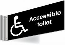 Wheelchair Accessible Double Sided Washroom Corridor Sign